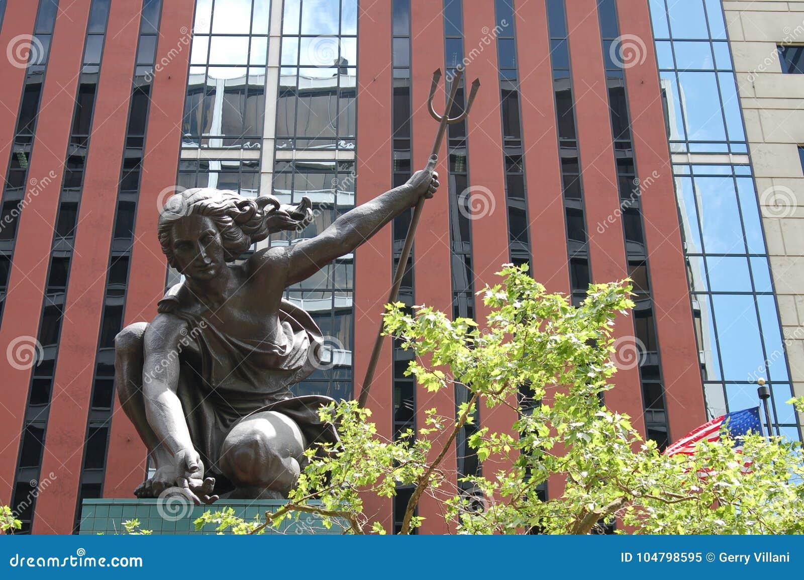 Statue of `Portlandia` in Portland, Oregon