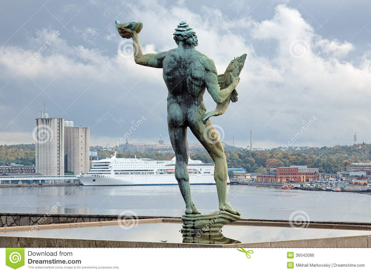 Famous Landmarks Of Stockholm In A Collage All Statues And ...
