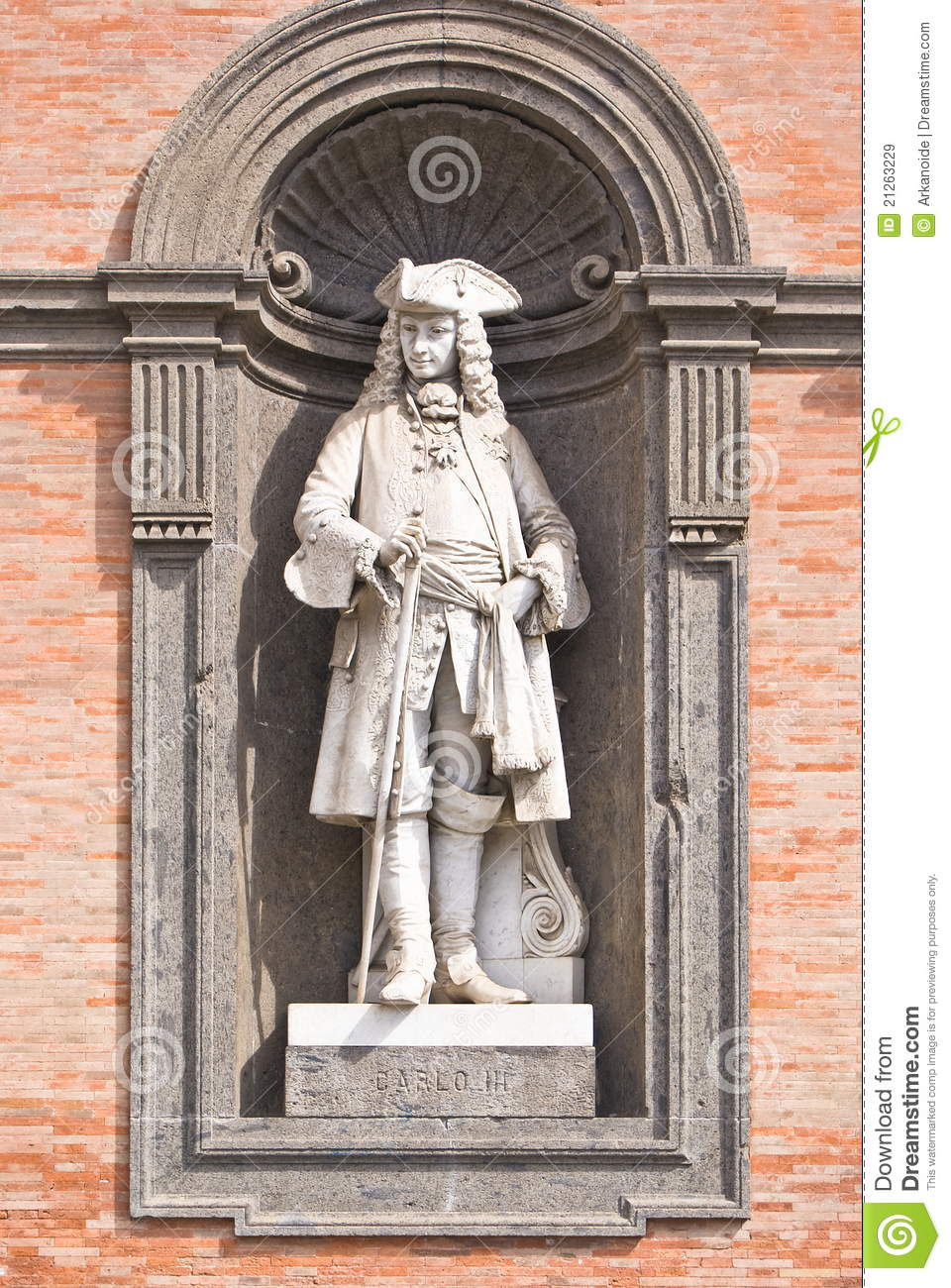 Statue In Royal Palace Naples Italy Stock Image Image