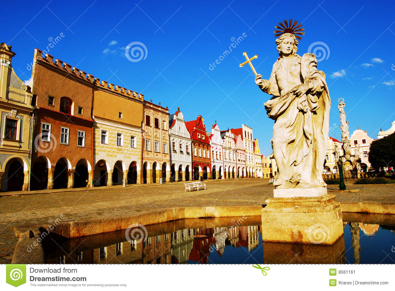 Statue of Saint Margaret stock image. Image of high ...