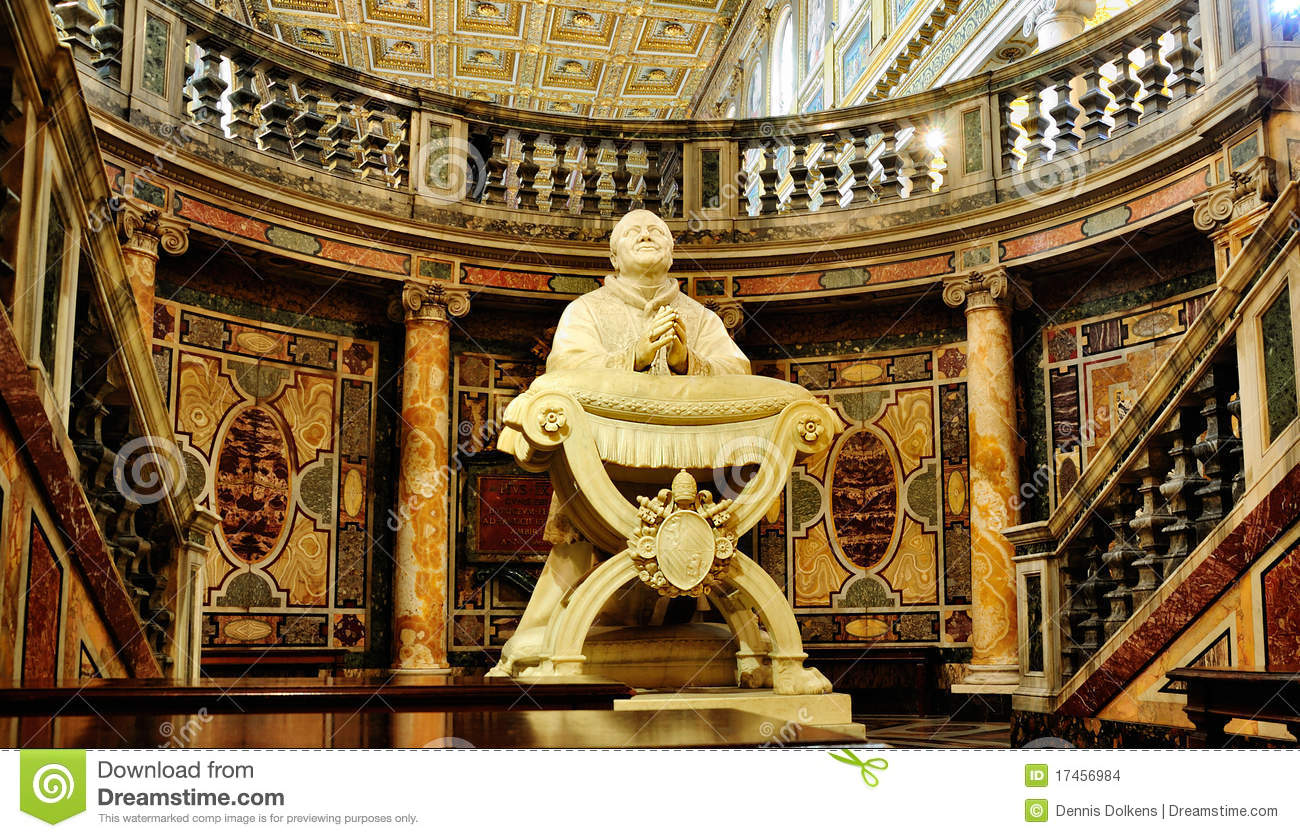Statue In The Santa Maria Maggiore Stock Images - Image: 17456984
