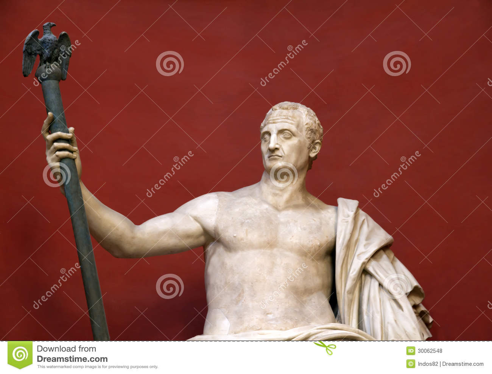 Statue Of Sitting Caesar Royalty Free Stock Photos Image