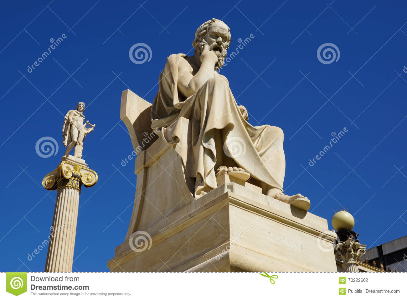 Statue of Socrates in front of National Academy building,Athens.