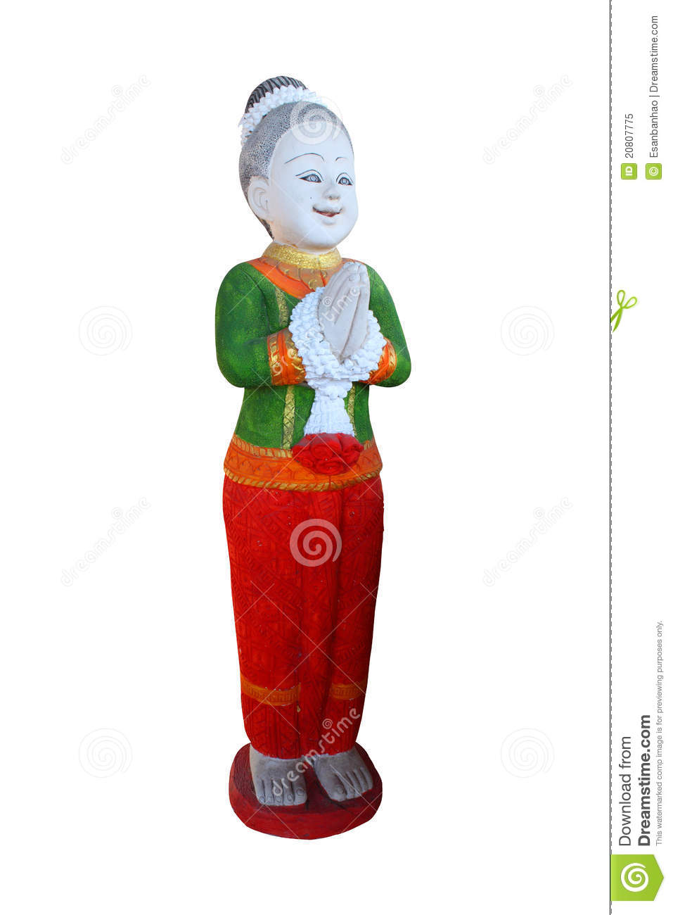 Statue traditional thai greeting stock image image of asian statue traditional thai greeting kristyandbryce Images