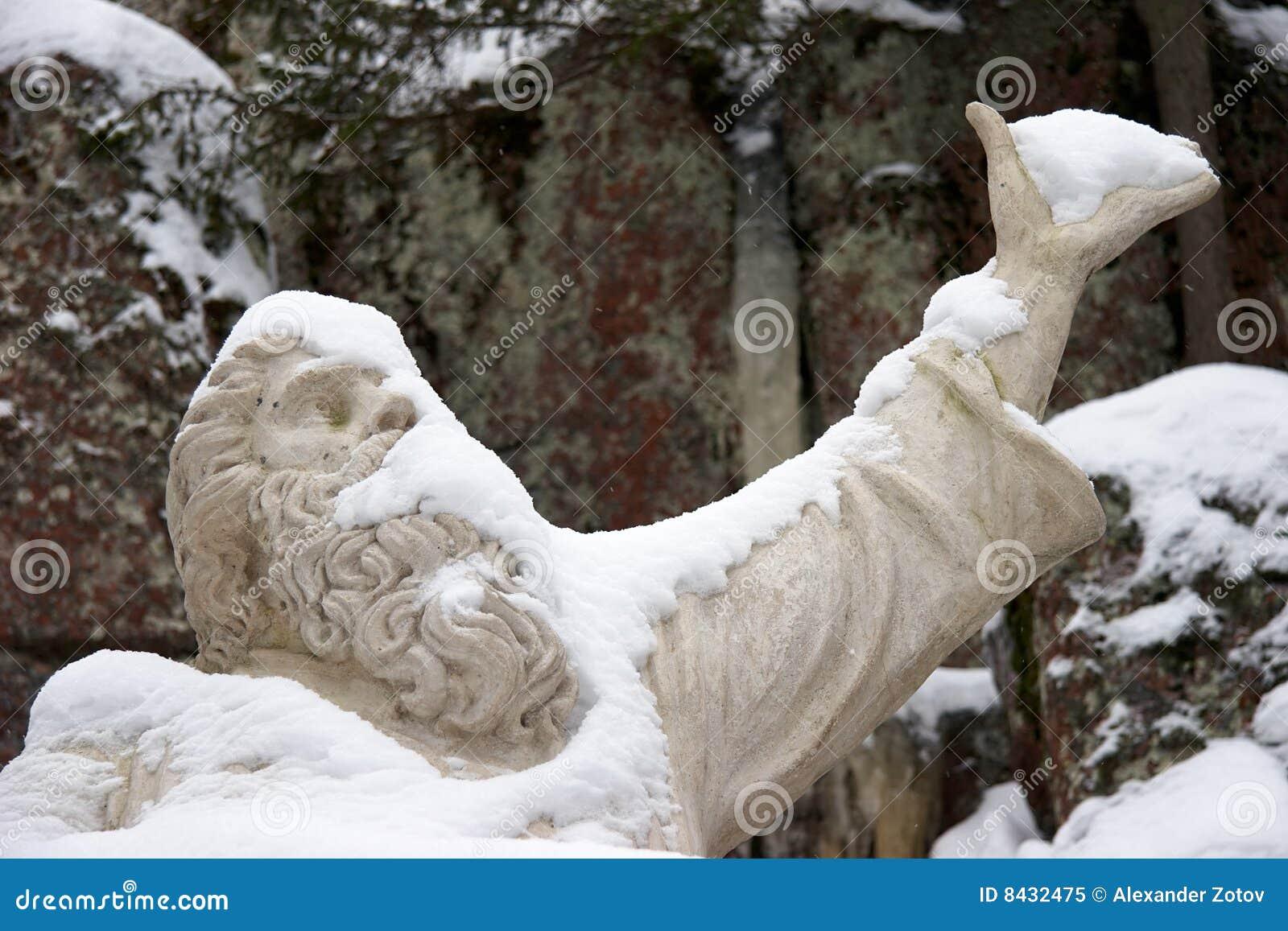 Statue of Vainamoinen, the hero in Kalevala epic