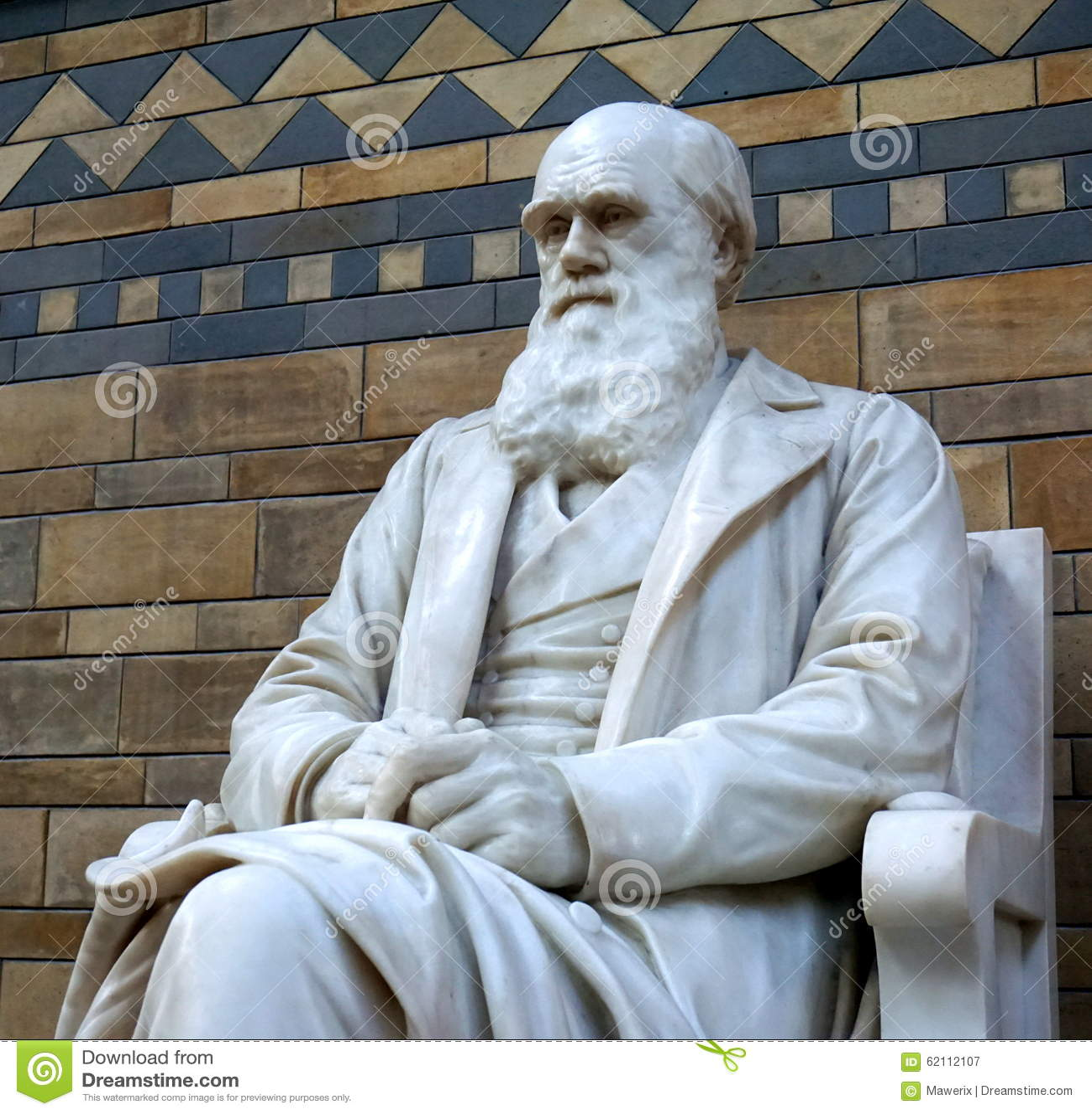 Statue von Charles Darwin