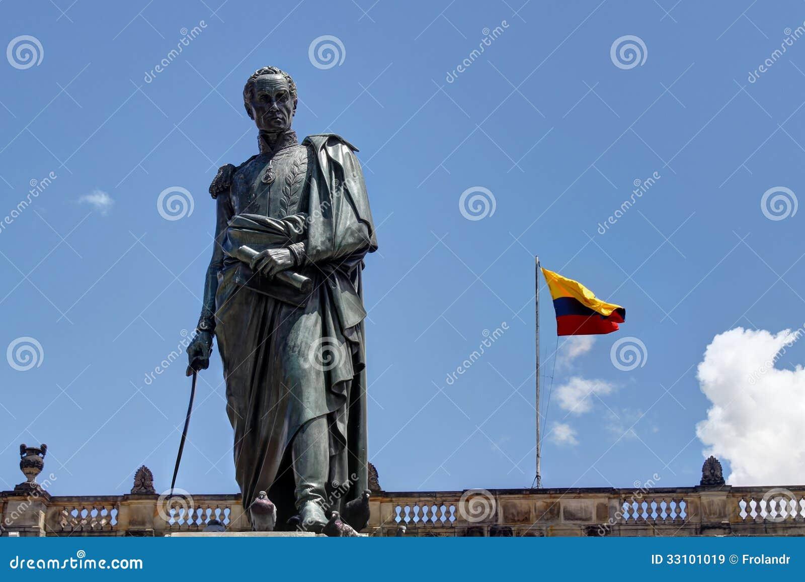 Statue von Simon Bolivar in Bogota
