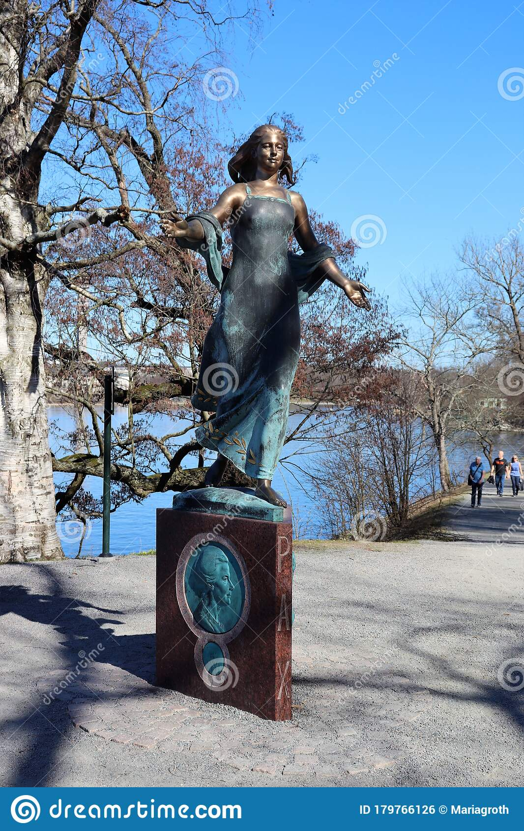 The Statue The Woman In Peace Work At Djurgarden Editorial Photo Image Of Nobel North 179766126