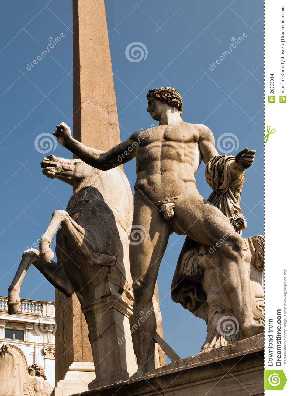 statues of castor and pollux stock images image 26660814. Black Bedroom Furniture Sets. Home Design Ideas