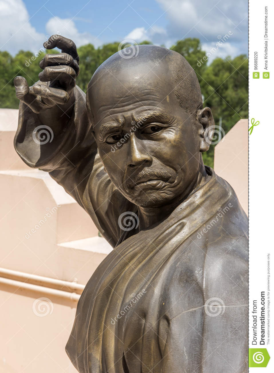Statues of Chinese Shaolin monks