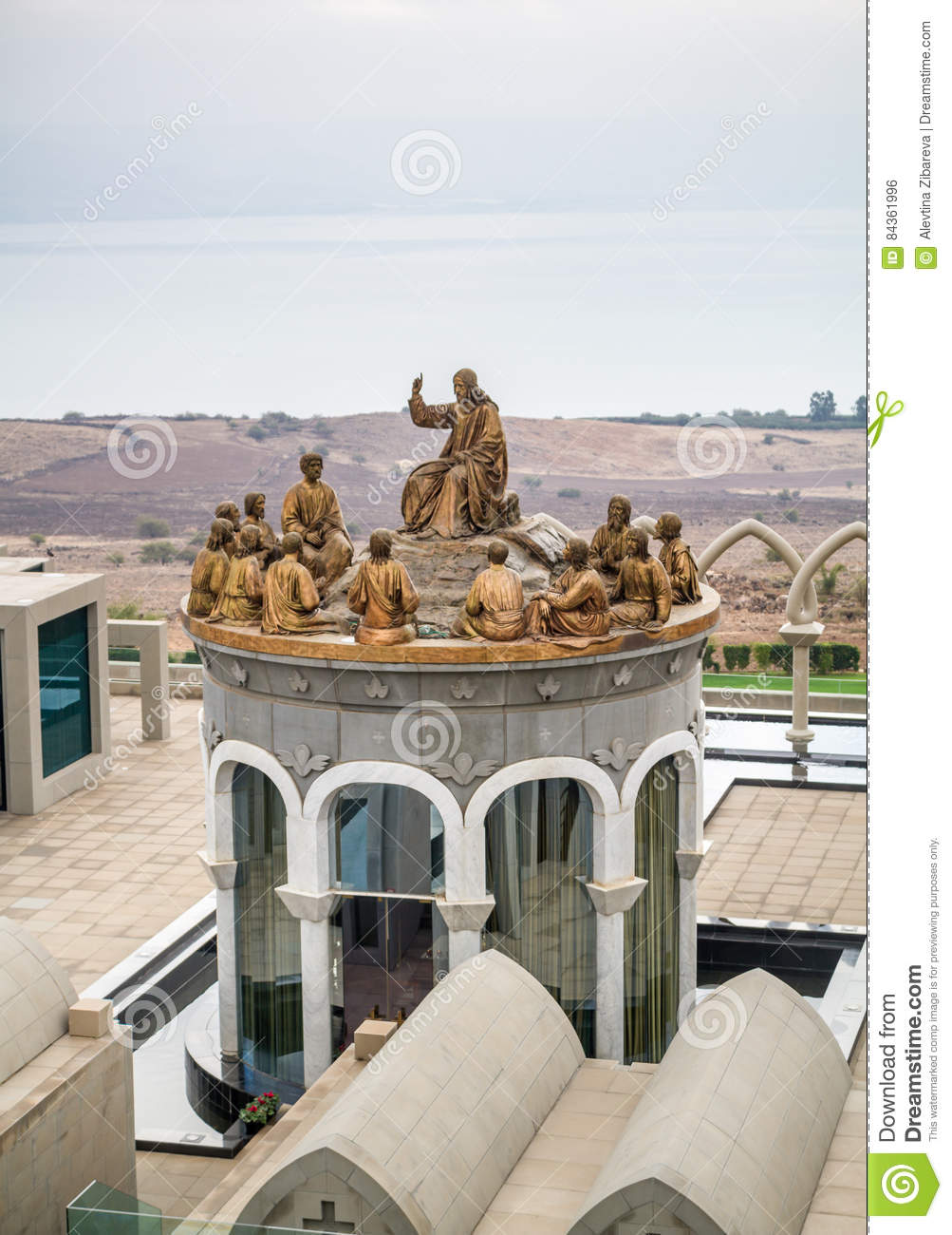 The Statues Of Jesus And Twelve Apostles Domus Galilaeae In Israel