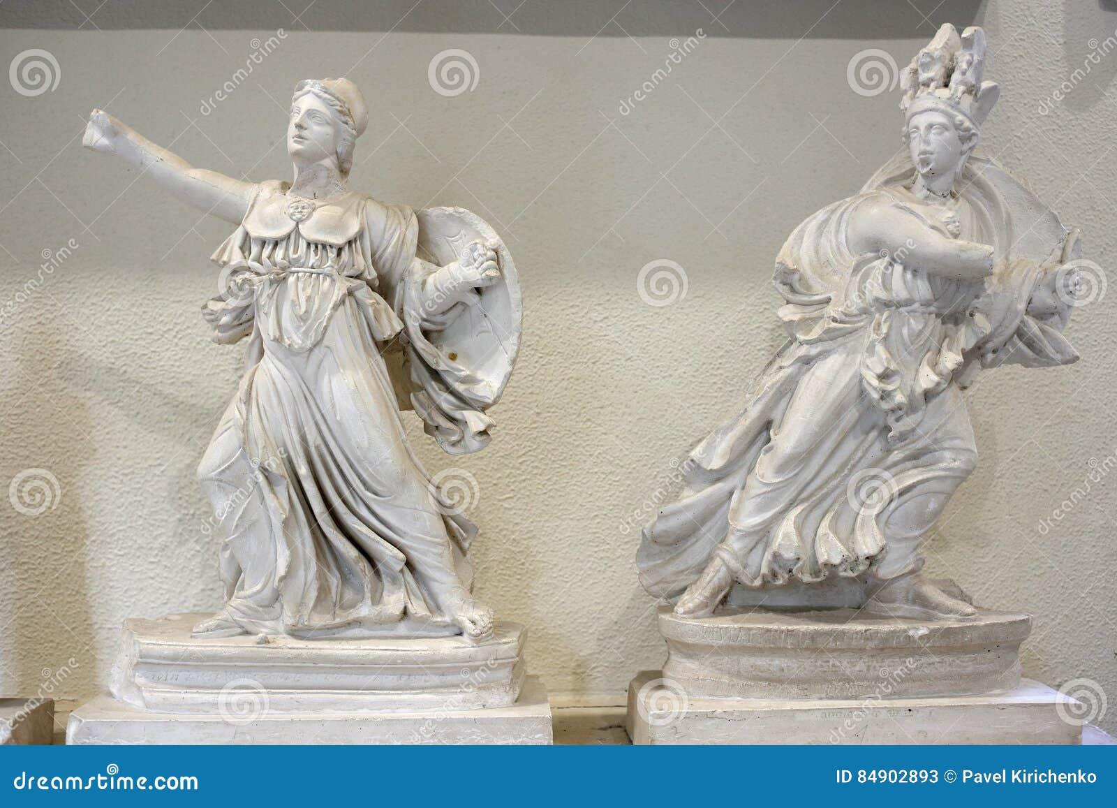 Statues in museum of Epidauros