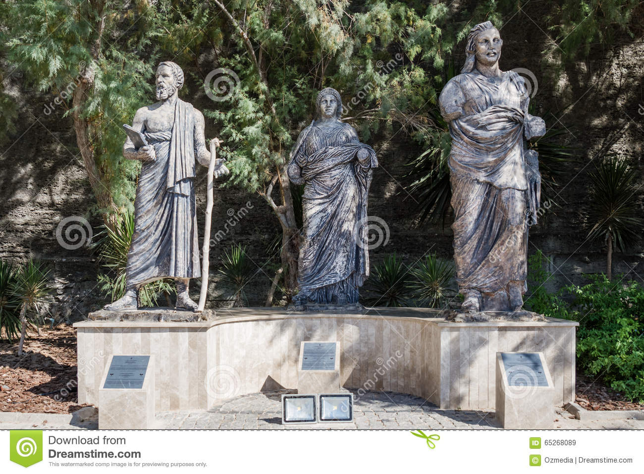 Statues Next To Bodrum Museum Of Underwater Archaeology In ...