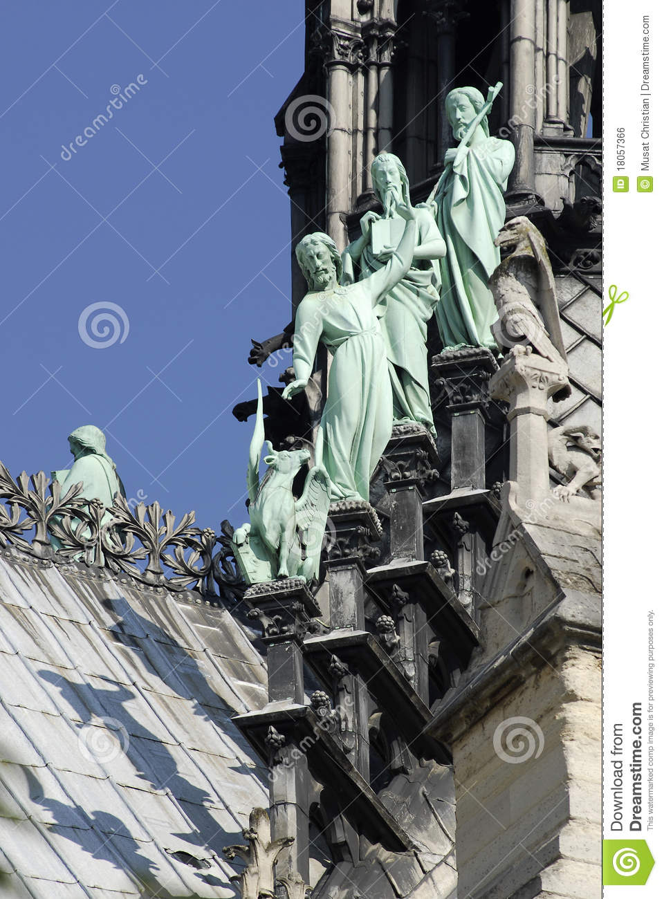 Statues Of Notre Dame In Paris Royalty Free Stock Image