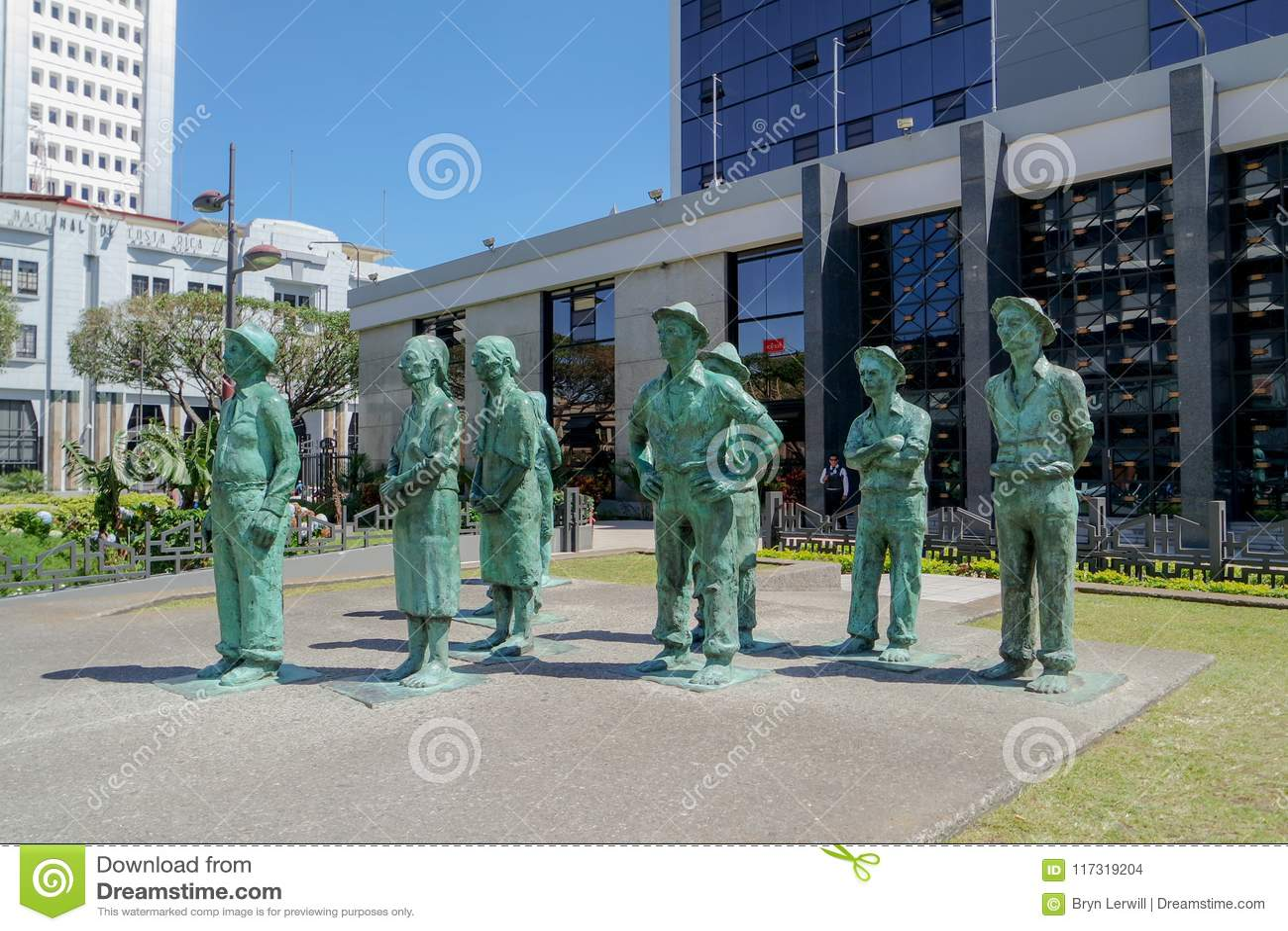 Statues rurales d agriculteurs dans San Jose, Costa Rica