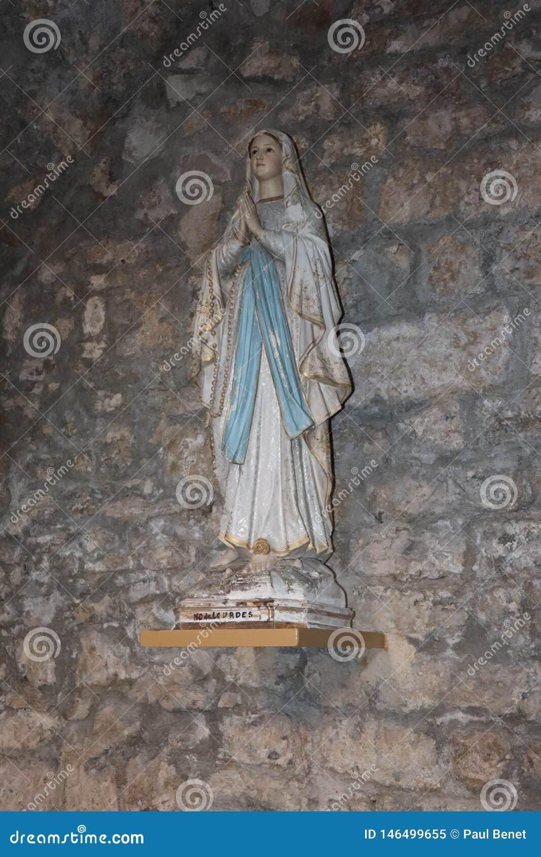Statuette DE Sainte Bernadette de Lourde
