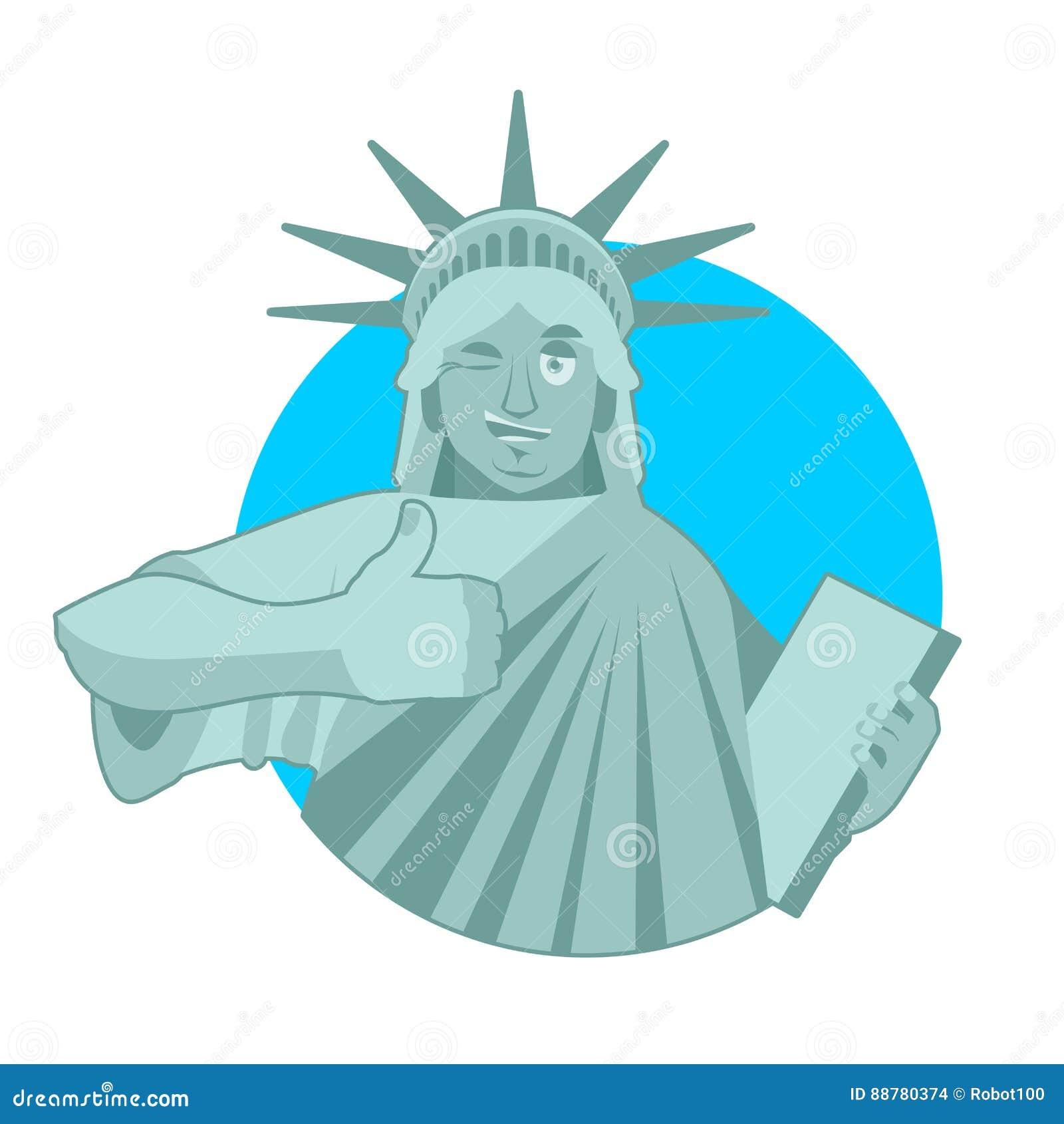 Statui Wolności mrugnięcia aprobata punkt zwrotny Ameryka rzeźba