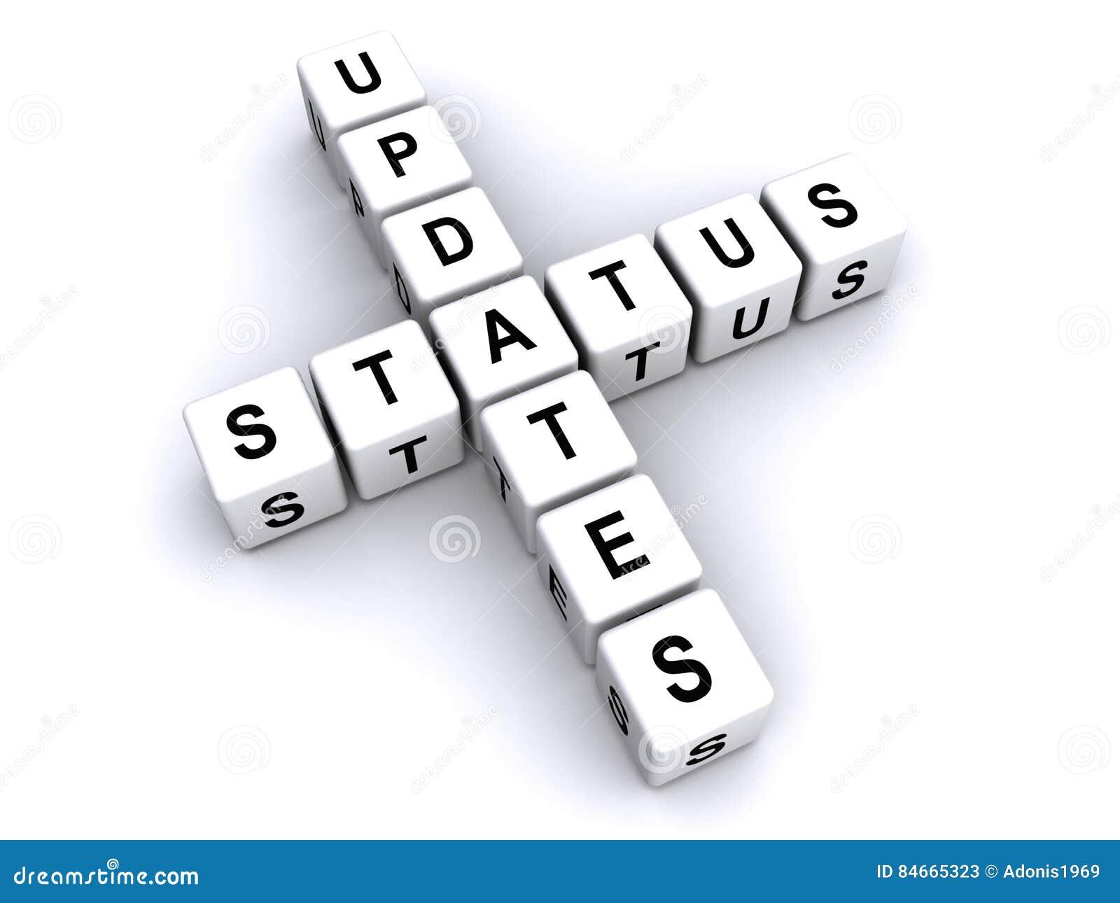 Status aktualizaci znak