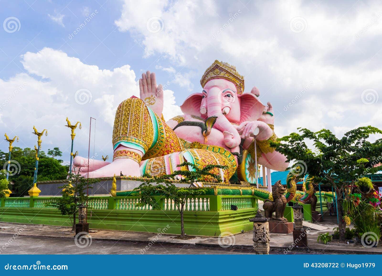 Download Staty Av Ganeshaen I Den Thailand Templet Arkivfoto - Bild av krona, hinduiskt: 43208722