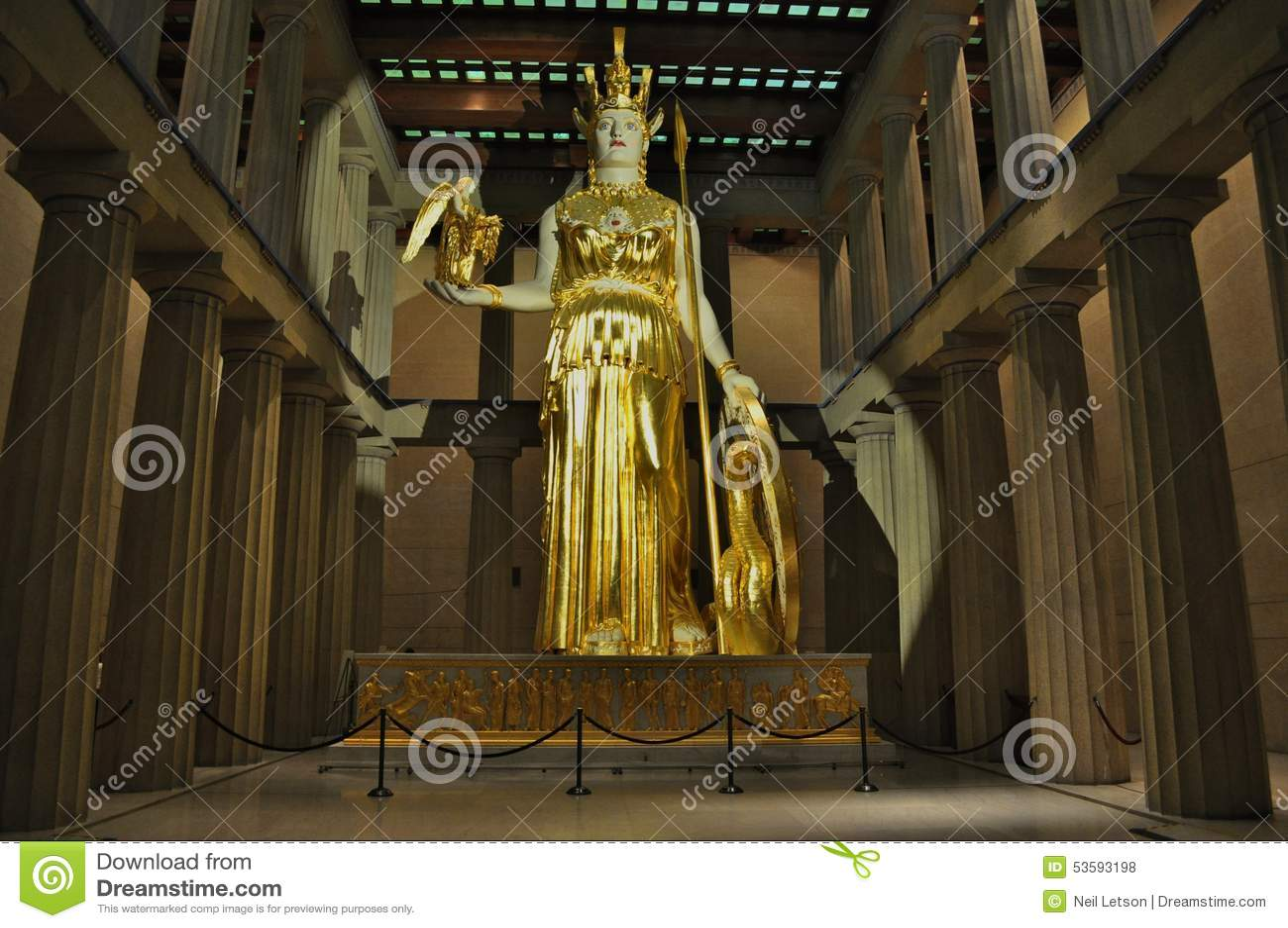 Staty av gudinnan Athena