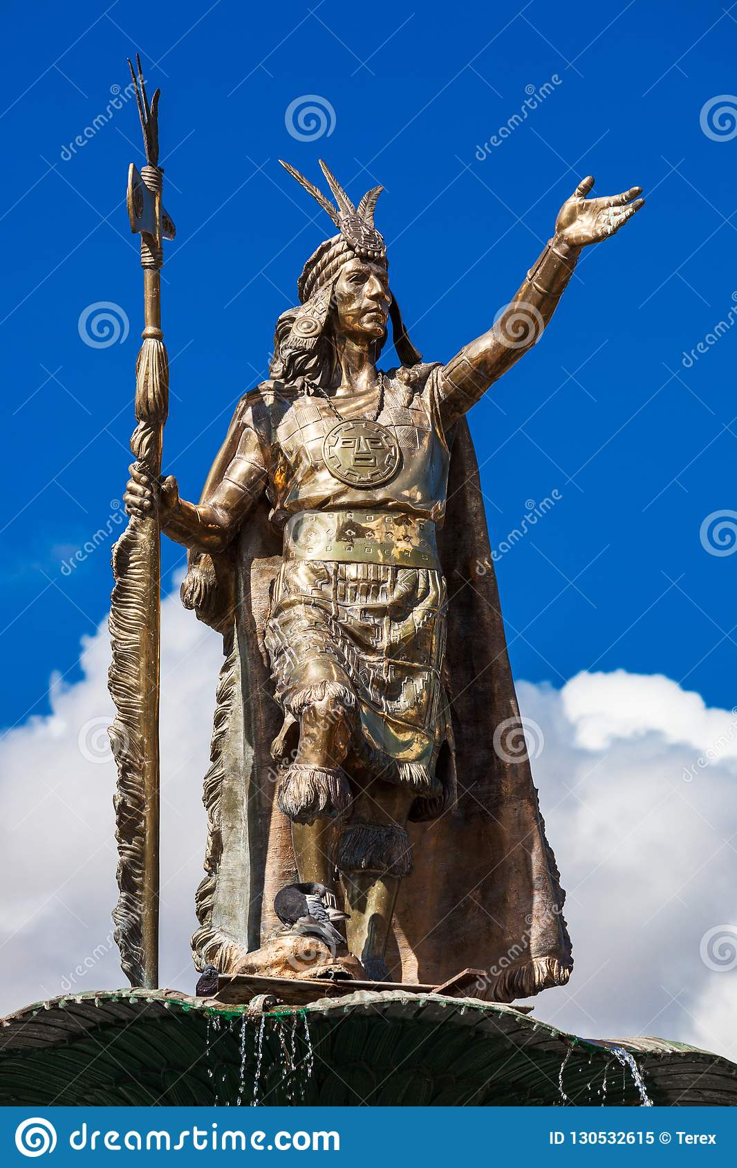 Staty av Inca Pachacutec