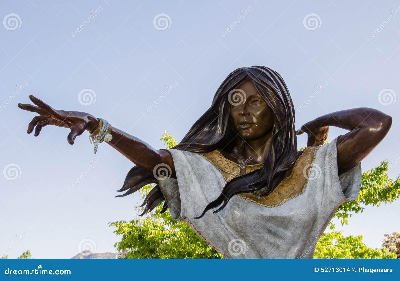 Staty av Sacajawea i Sedona, Arizona