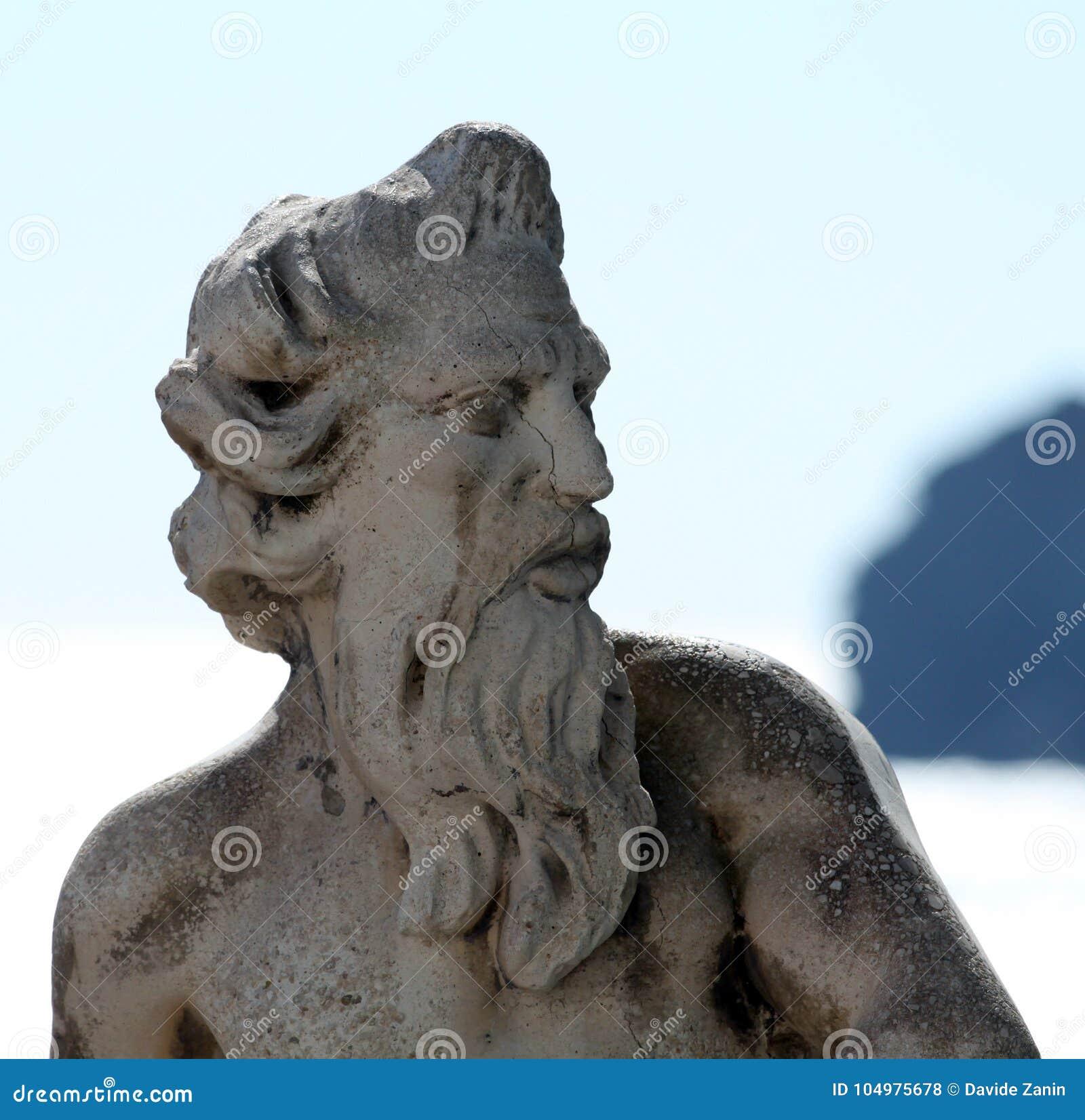 Staty av Ulisses i Ischia, Naples, Italien