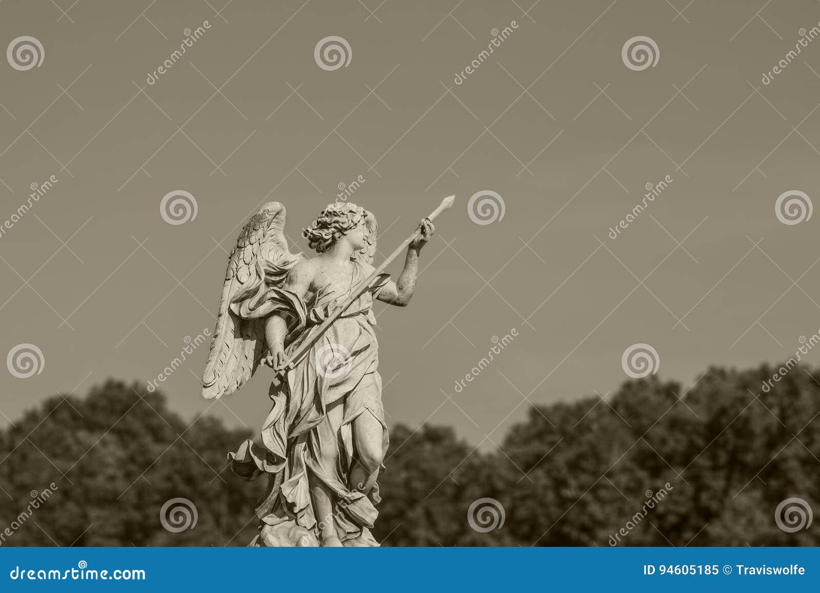 Staty i Rome Europeiskt loppbegrepp med roman arkitektur