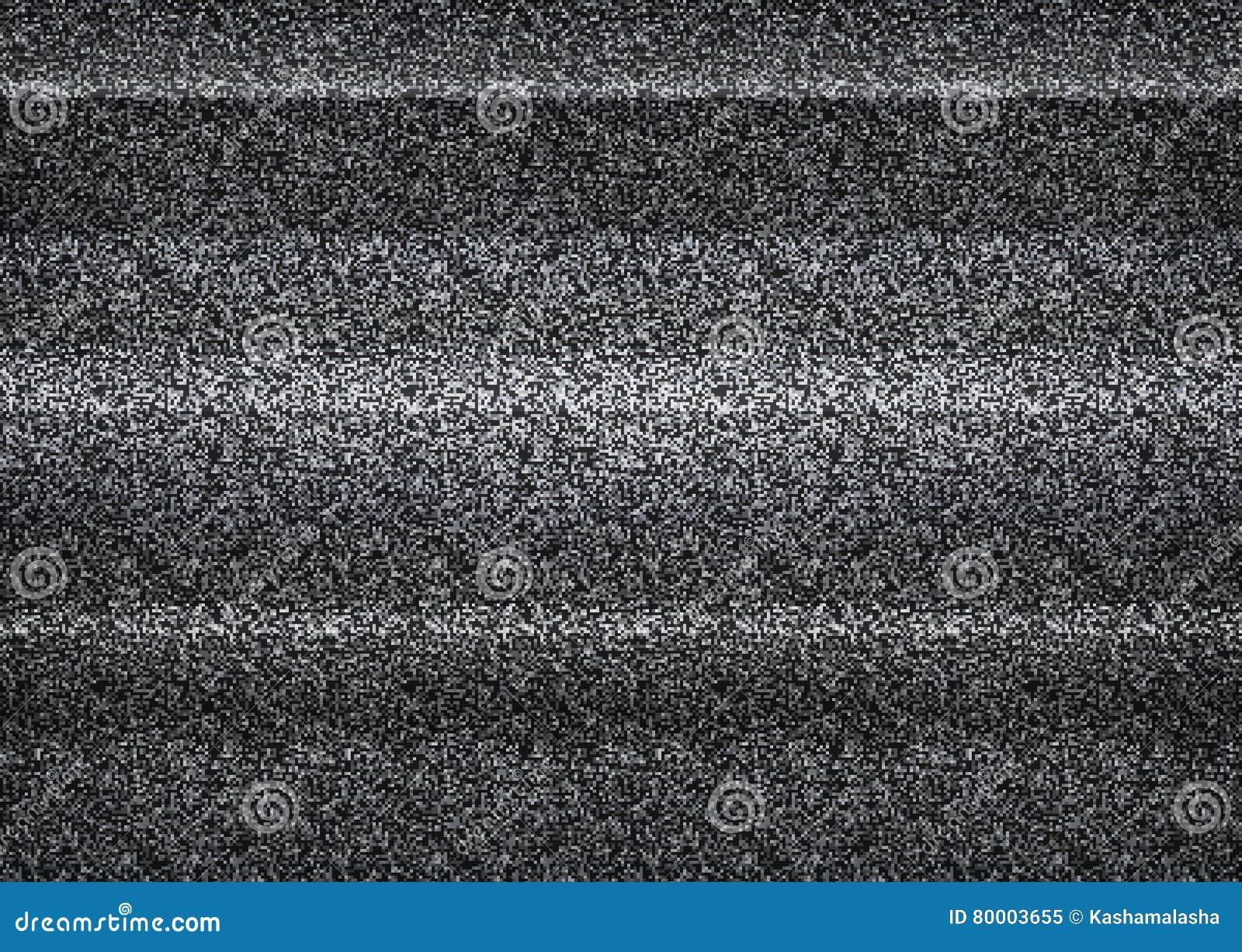 Statyczny tv hałas, zły tv sygnał, czarny i biały, monochrom