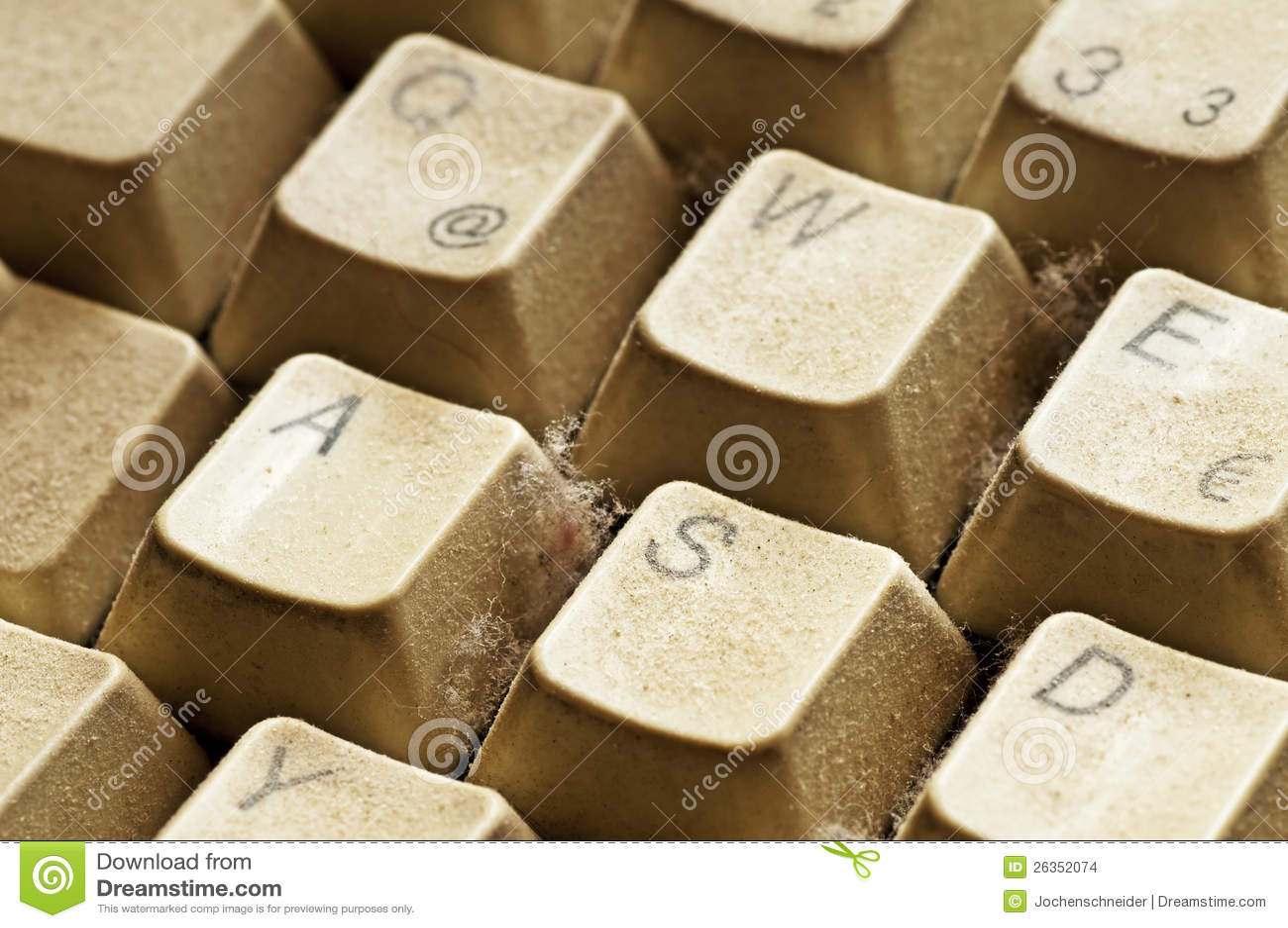 Staubige Tastatur