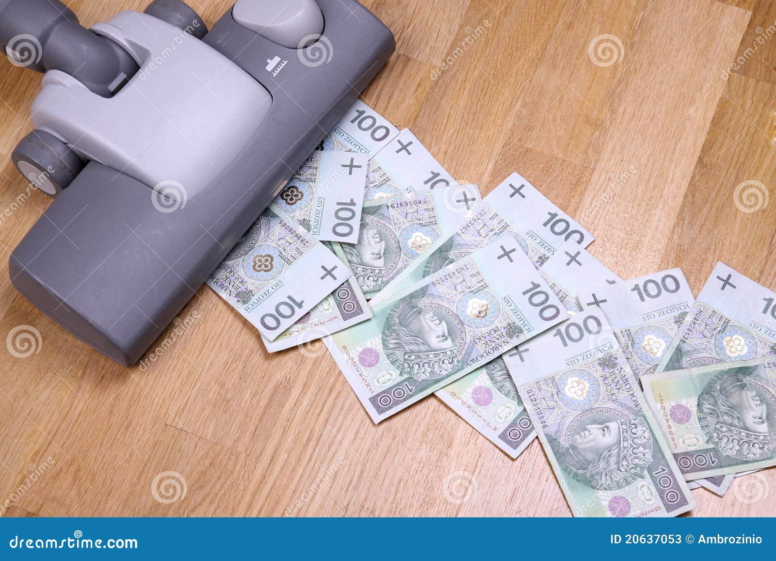 Staubsaugendes Geld