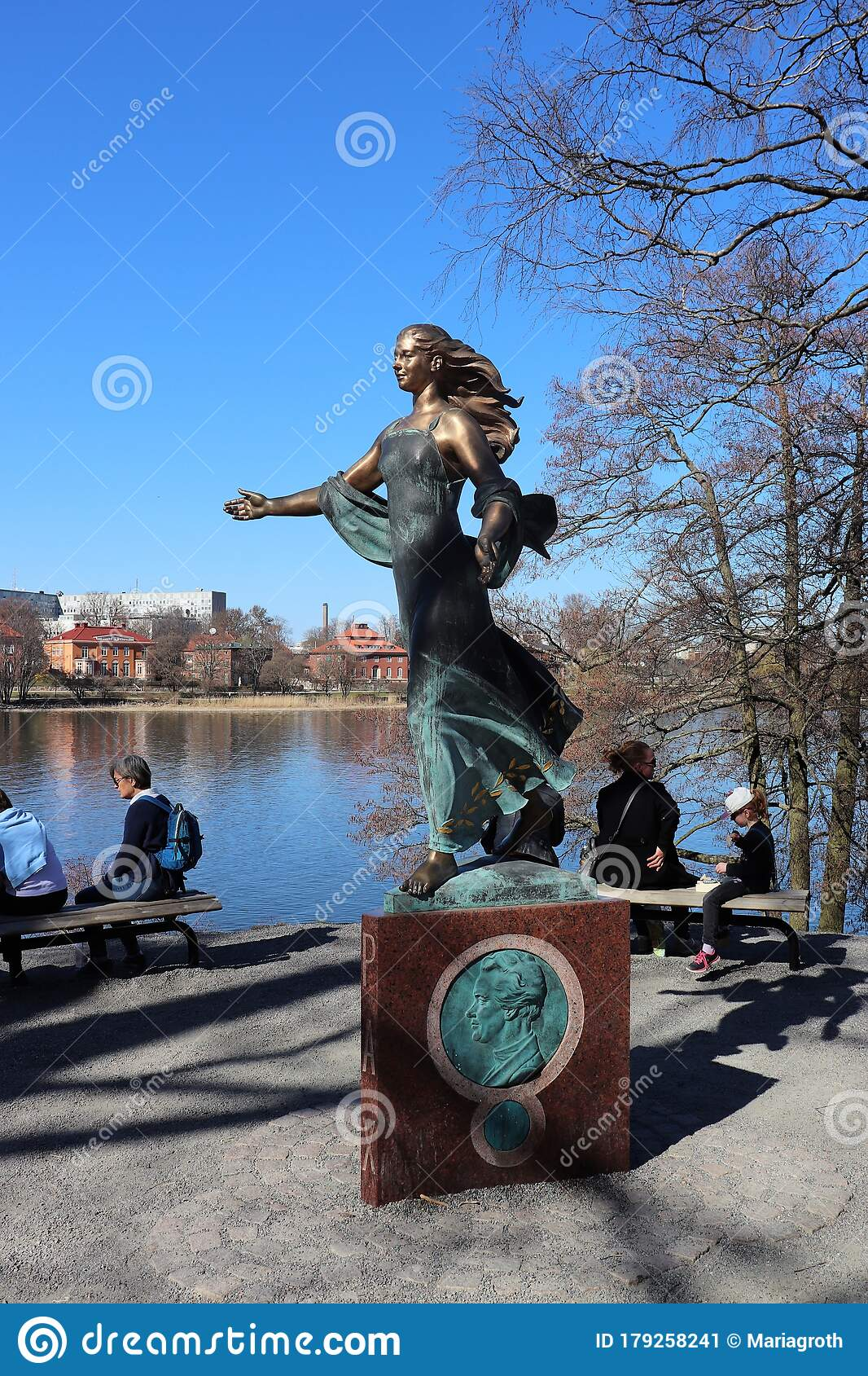 The Statue The Woman In Peace Work At Djurgarden Editorial Photo Image Of Decoration Depicted 179258241