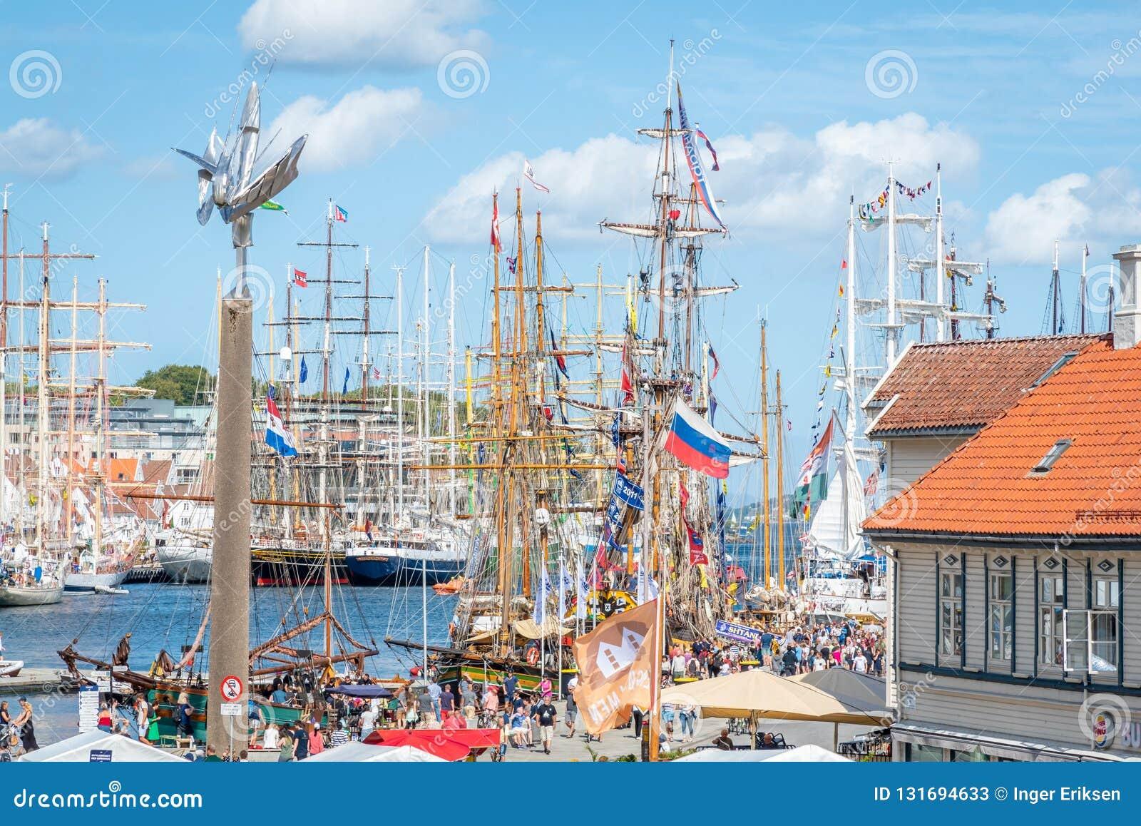 Stavanger/Νορβηγία - 29 Ιουλίου 2018: Ψηλή φυλή σκαφών