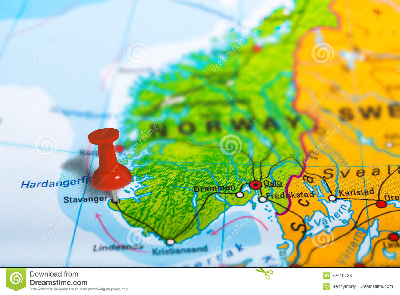 Stavanger Norway Map Stock Photo Image - Norway map