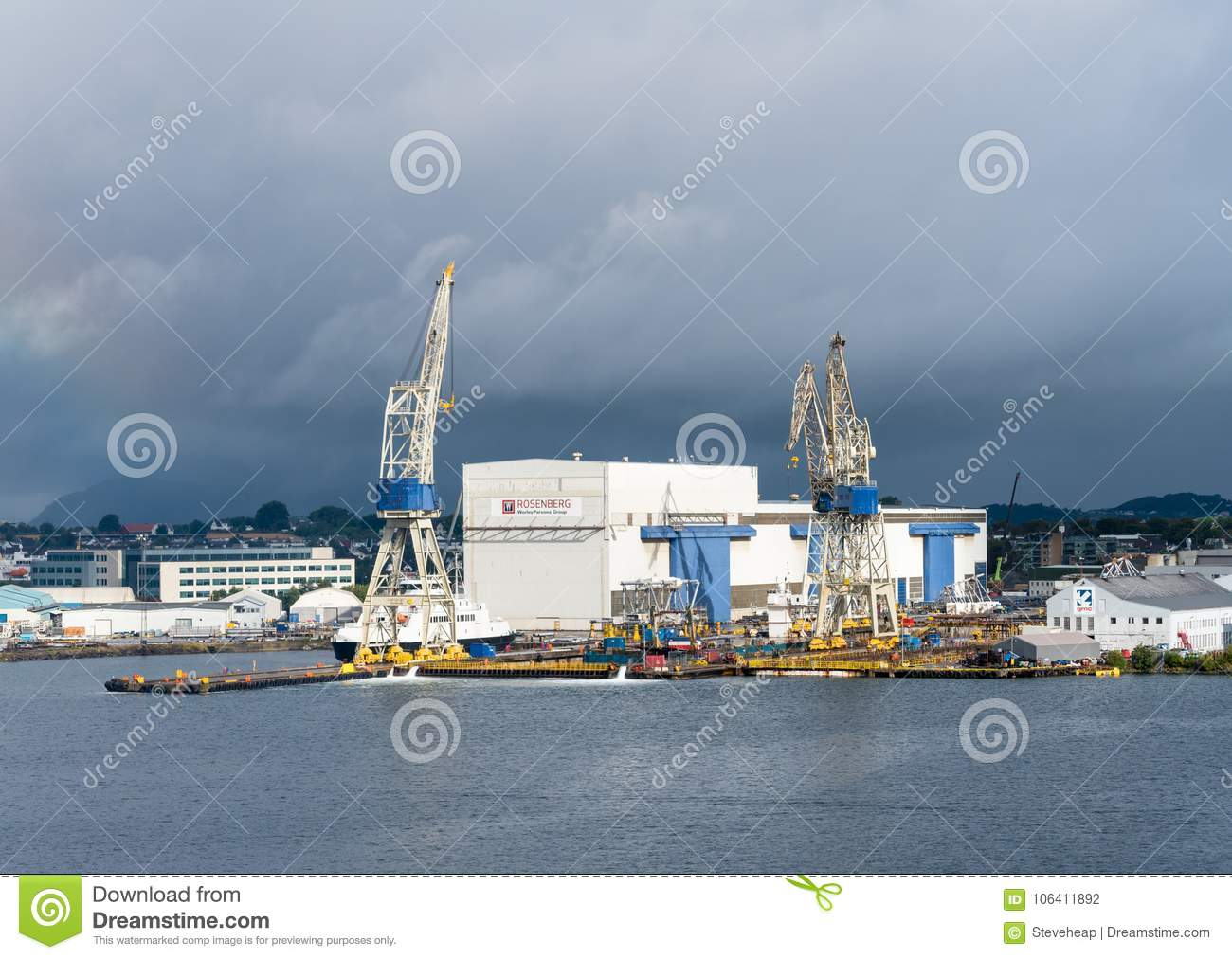 Rosenberg Shipyard In Stavanger Harbor Editorial Photography
