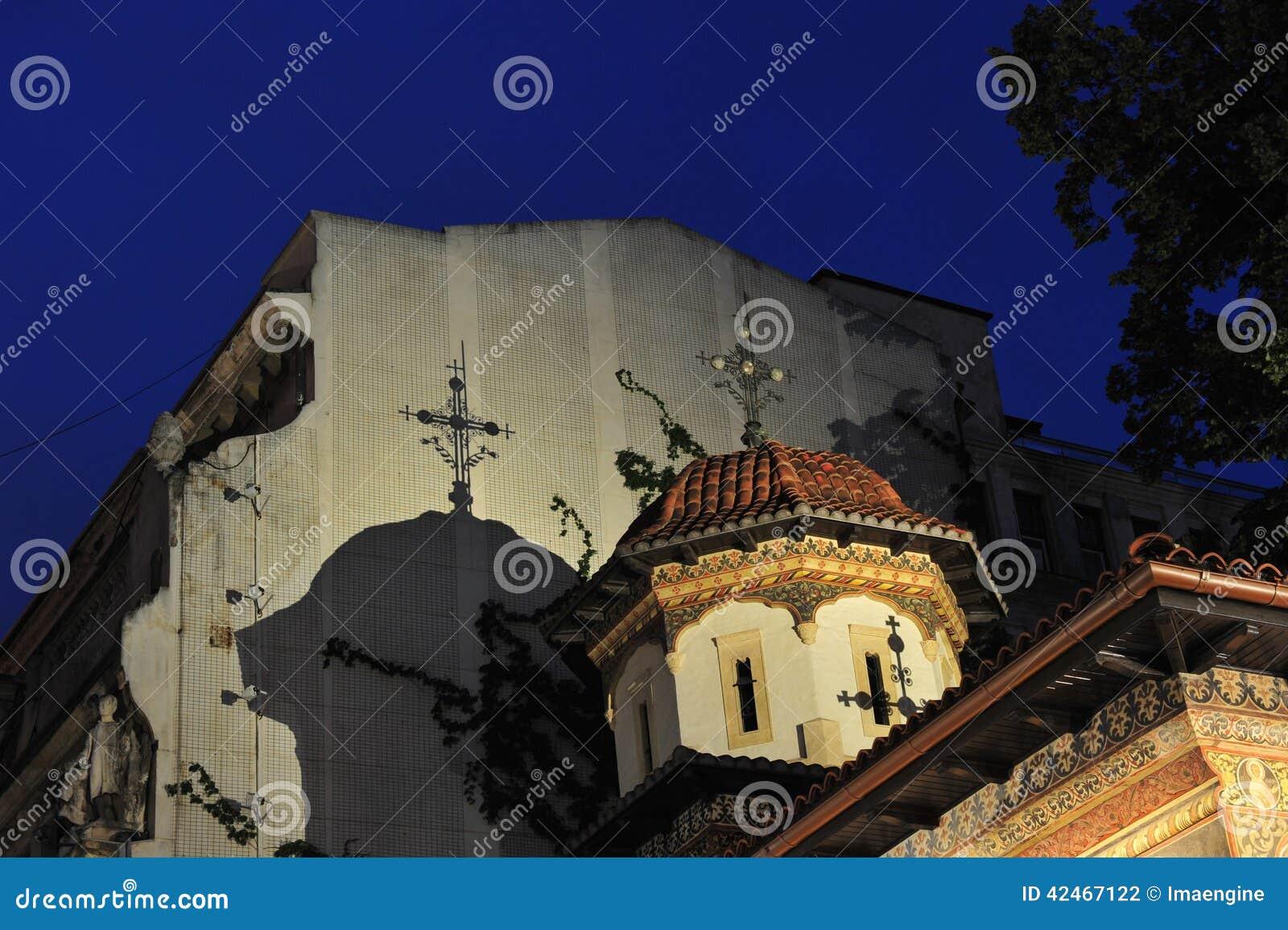 Stavropoleos-Klosterdetails - Nachtszene