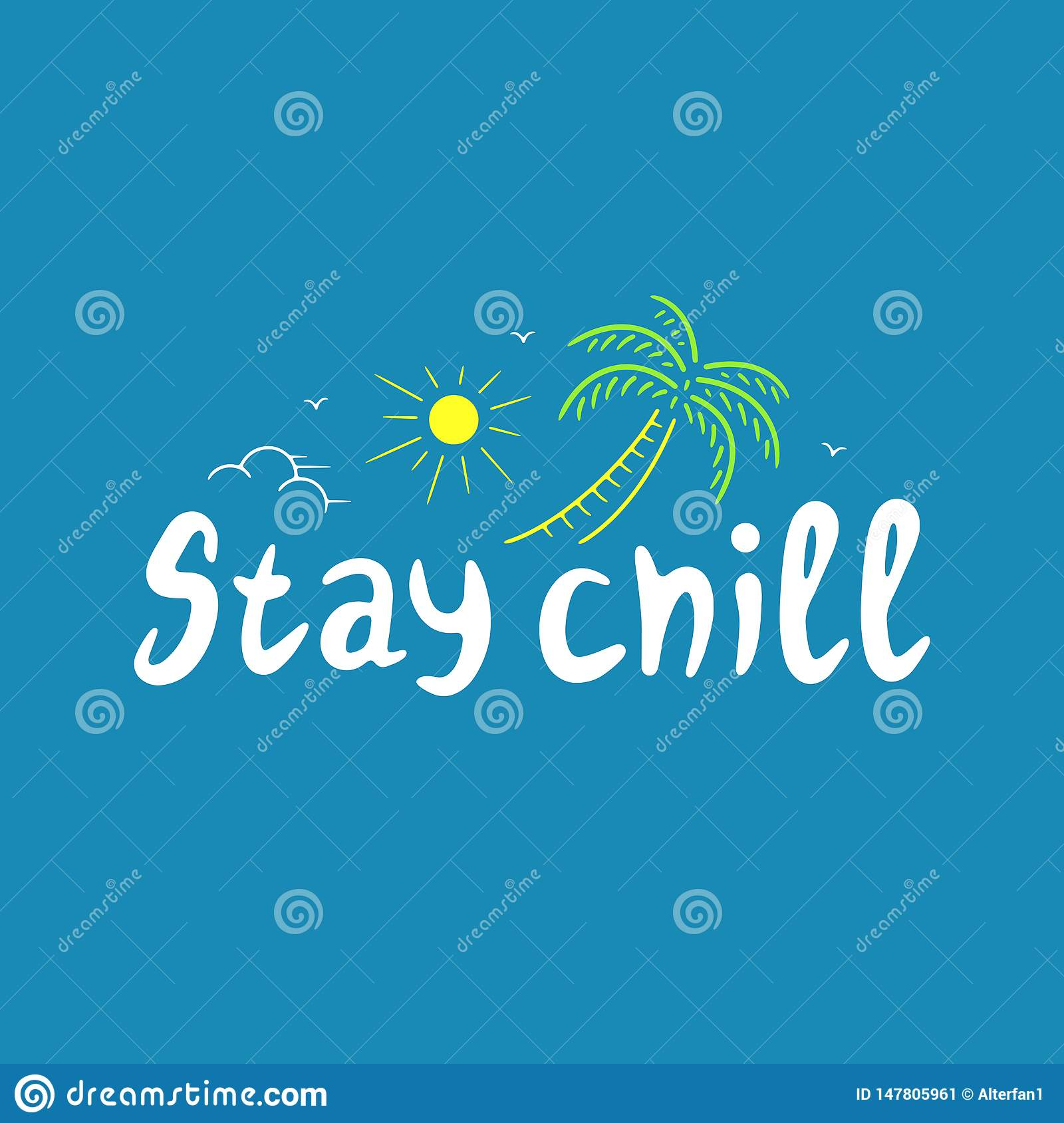 STAY CHILL POSTER COLOR BLUE