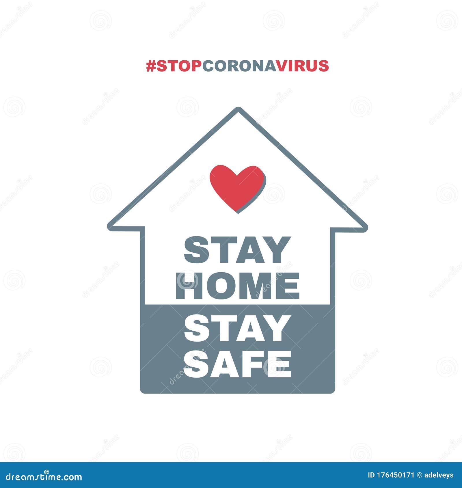 Stay Home, Stay Safe Hashtag. Stop Coronavirus. Quarantine Vector  Illustration Stock Vector - Illustration of virus, security: 176450171