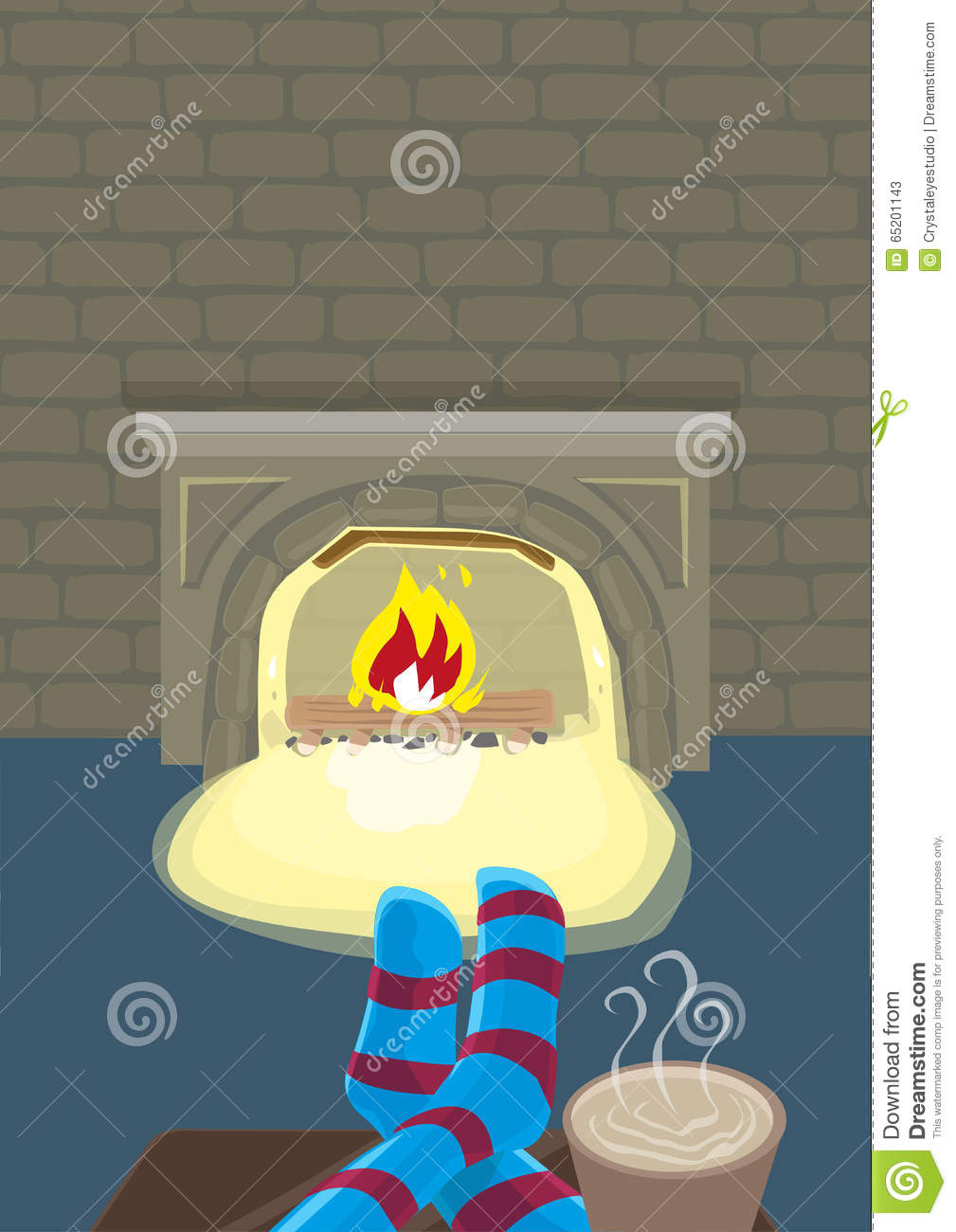 staying indoor with fireplace during winter season editable clip