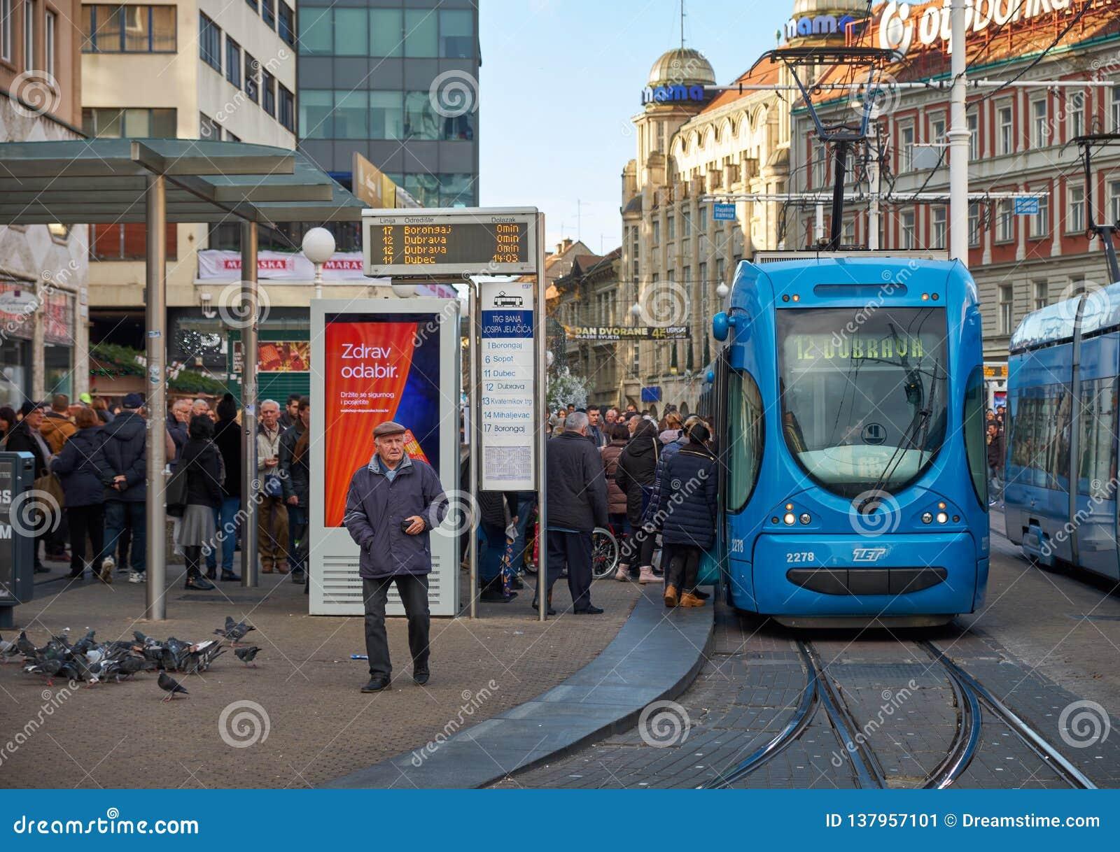 Stazione del tram di Zagabria