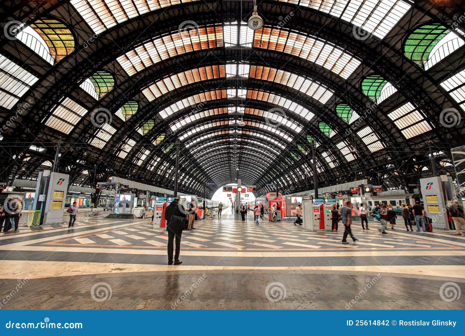 Stazione della centrale di Milano.
