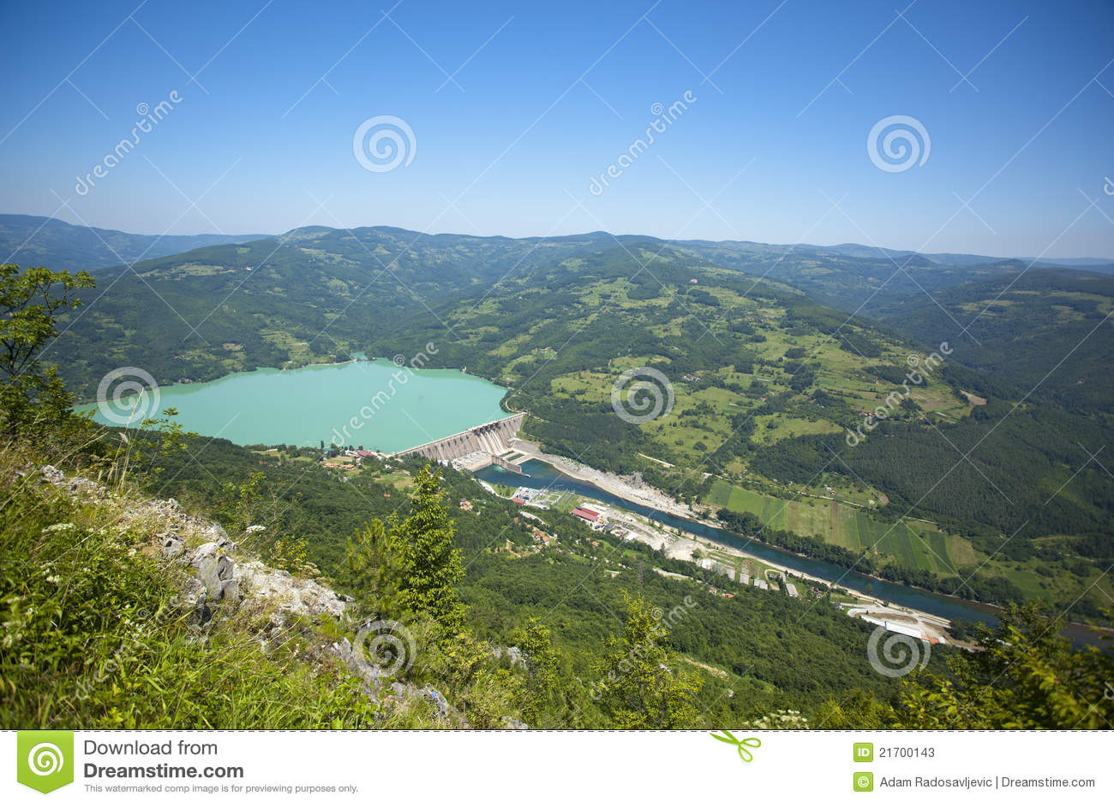 Stazione di forza idroelettrica, diga di Perucac