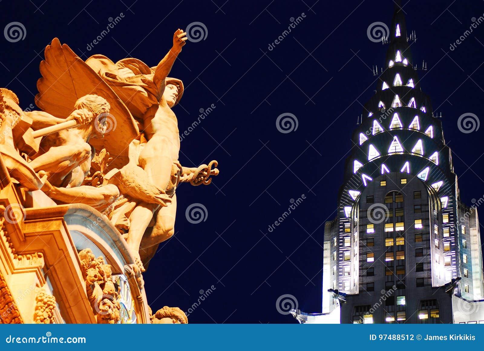 Stazione di Grand Central e l edificio di Chrysler