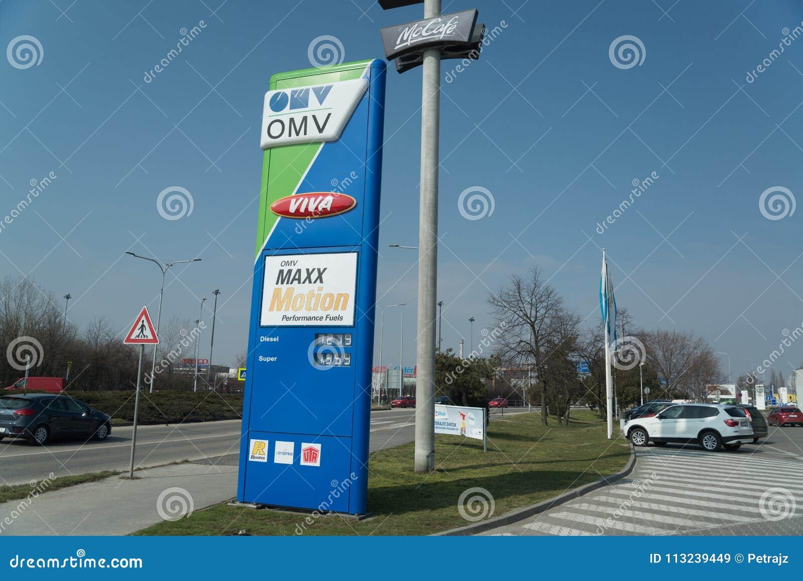 Stazione di servizio della benzina di OMV