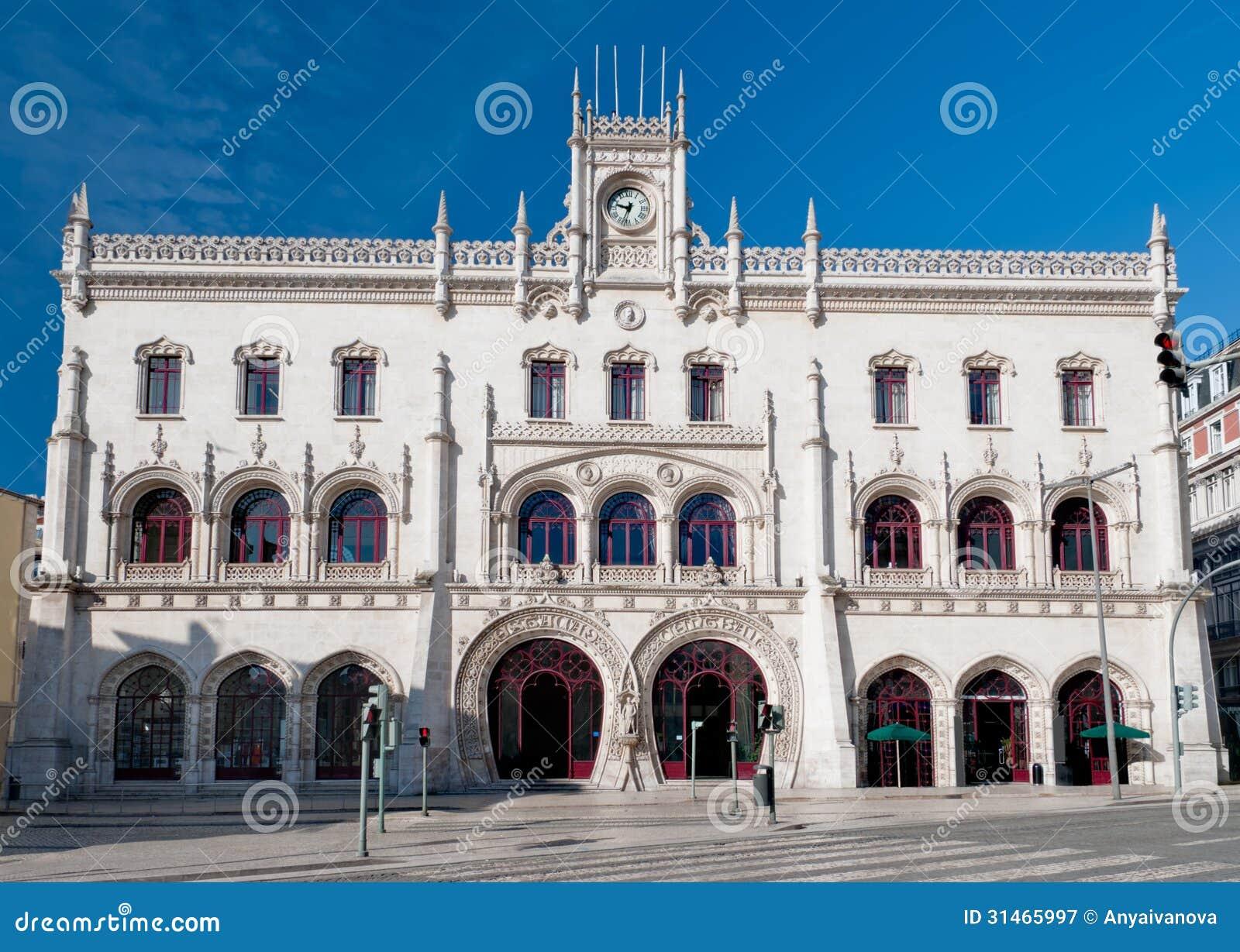 Stazione ferroviaria di Rossio a Lisbona