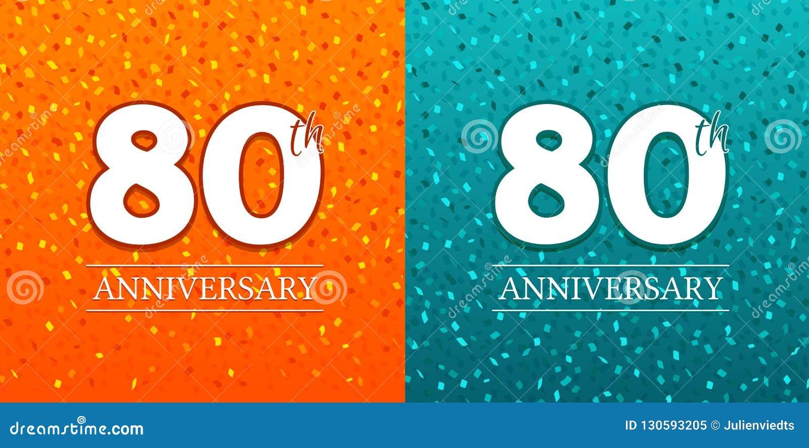 Iets Nieuws 80ste Verjaardagsachtergrond - 80 Jaar Vierings Verjaardagseps10 @ET59