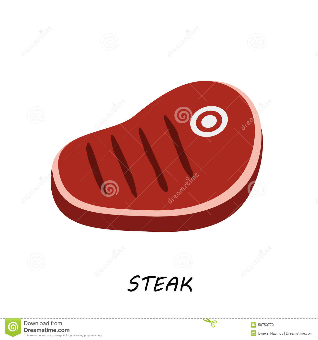 Steak Chop Meat A Piece Of Meat Cuts Vector Stock