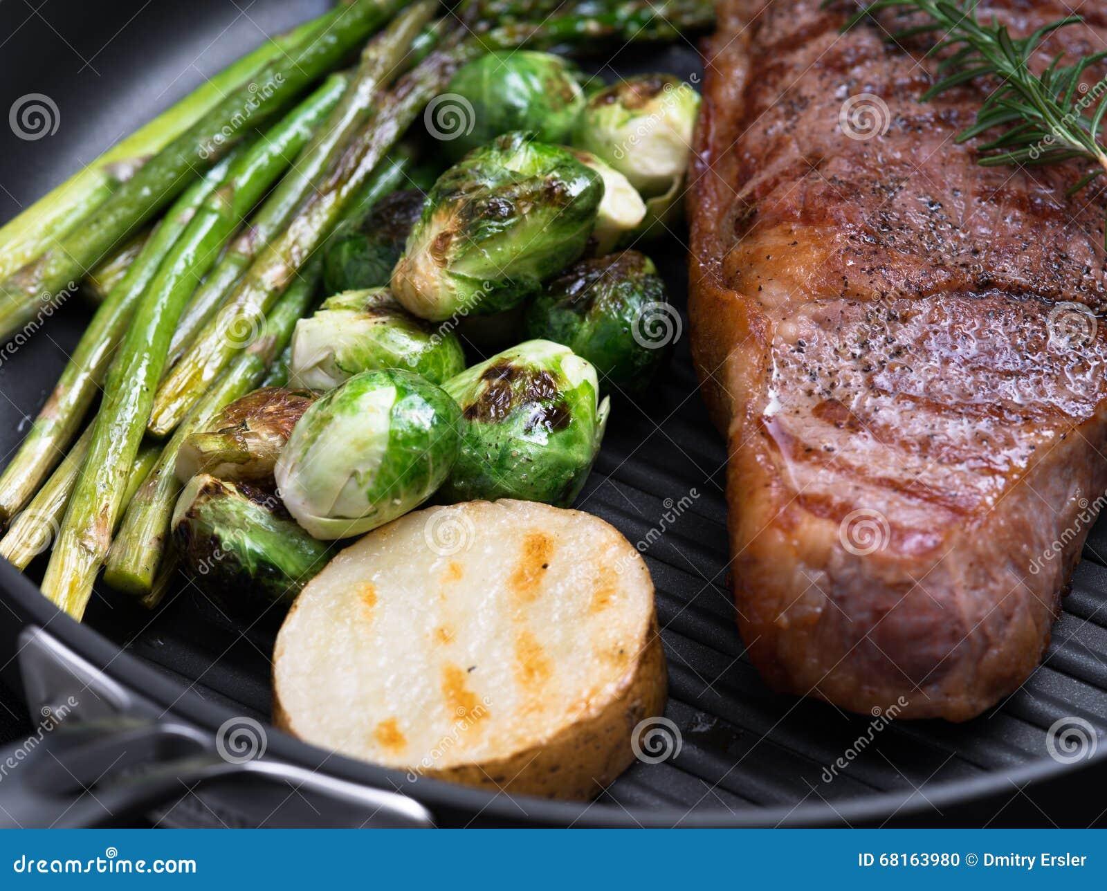 Medium steak color