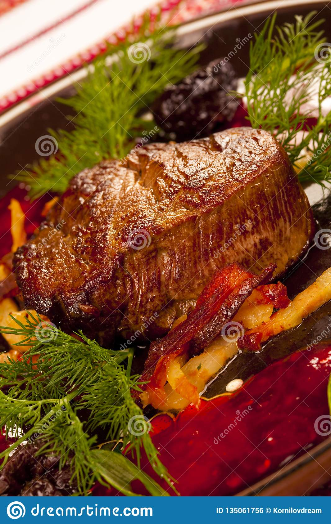 Steak meat grilled