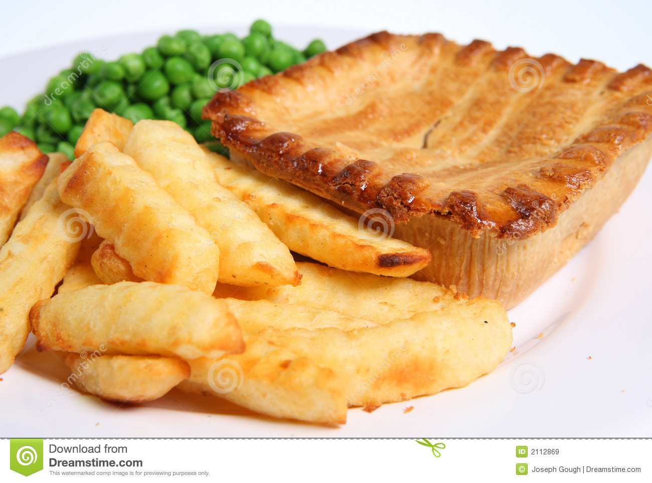 Steak Pie & Chips Royalty Free Stock Images - Image: 2112869